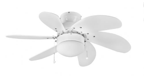 "Eurofans Atlanta  30"" White Ceiling Fan +  Light 111573"